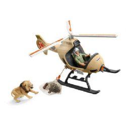 SCHLEICH FIGURE -  ANIMAL RESCUE HELICOPTER -  WILD LIFE 42476