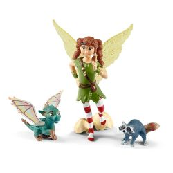 SCHLEICH FIGURE -  FAIRY MARWEEN WITH NUGAR AND PIUH (5.5
