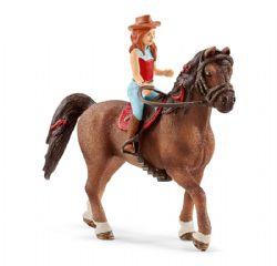 SCHLEICH FIGURE -  HANNAH & CAYENNE -  HORSE CLUB 42514