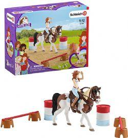 SCHLEICH FIGURE -  HANNAH'S WESTERN RIDING SET -  HORSE CLUB 42441