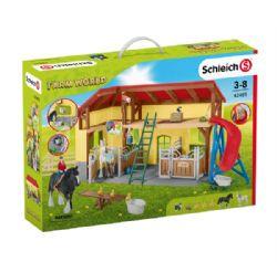 SCHLEICH FIGURE -  HORSE STABLE -  FARM WORLD 42485