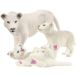 SCHLEICH FIGURE -  LIONESS WITH CUBS -  WILD LIFE - AFRICA 42505