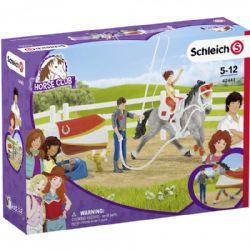 SCHLEICH FIGURE -  MIA'S VAULTING SET -  HORSE CLUB 42443