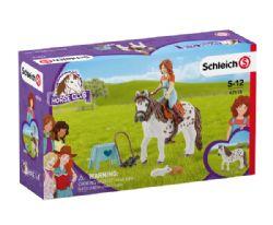 SCHLEICH FIGURE -  MIA & SPOTTY -  HORSE CLUB 42518