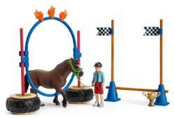 SCHLEICH FIGURE -  PONY AGILITY RACE -  HORSES 42482