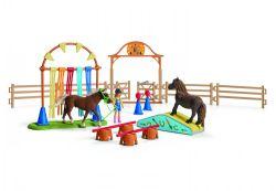 SCHLEICH FIGURE -  PONY AGILITY TRAINING -  HORSES 42481