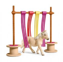 SCHLEICH FIGURE -  PONY CURTAIN OBSTACLE -  HORSES 42484