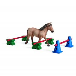 SCHLEICH FIGURE -  PONY SLALOM -  HORSES 42483