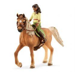 SCHLEICH FIGURE -  SARAH & MYSTERY -  HORSE CLUB 42517
