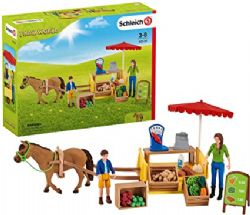 SCHLEICH FIGURE -  SUNNY DAY MOBILE FARM STAND -  FARM WORLD 42528