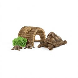 SCHLEICH FIGURE -  TORTOISE HOME -  WILD LIFE - AFRICA 42506