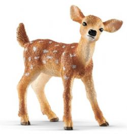 SCHLEICH FIGURE -  WHITE-TAILED FAWN (2.2