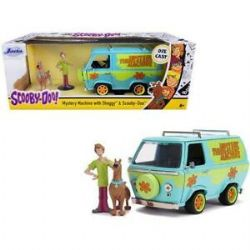 SCOOBY-DOO -  MYSTERY MACHINE 1/24 WITH SHAGGY AND SCOOBY-DOO FIGURE