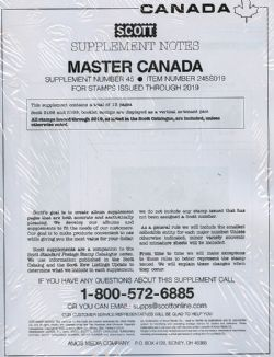 SCOTT MASTER -  2019 CANADA SUPPLEMENT