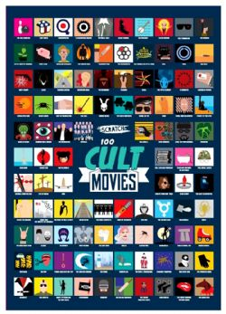 SCRATCH POSTER (CULT MOVIES) -