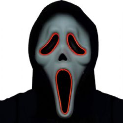 SCREAM -  ILLUMO GHOST FACE MASK (ADULT)