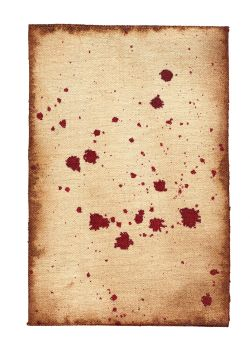SCROLL -  BLOOD STAINS (6 X 9)