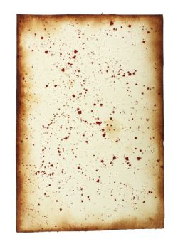 SCROLL -  BLOOD STAINS - LARGE (9.5 X 13.5)
