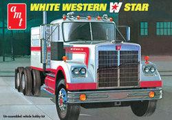SEMI TRACTOR -  WHITE WESTERN STAR 1/25