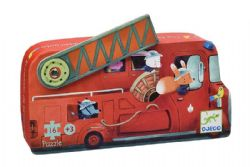SHAPED PUZZLE -  THE FIRE TRUCK (16 PIECES) - 3+
