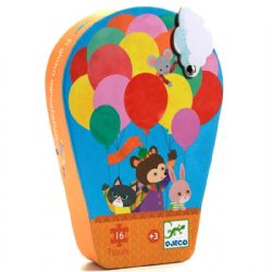 SHAPED PUZZLE -  THE HOT-AIR BALLON (16 PIECES) - 3+