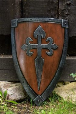 SHIELDS -  CRUSADER SHIELD WOOD AND STEEL