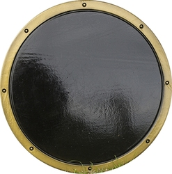 SHIELDS -  READY FOR BATTLE ROUND SHIELD - BLACK/GOLD