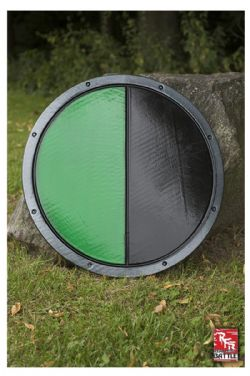 SHIELDS -  READY FOR BATTLE ROUND SHIELD - BLACK/GREEN