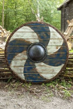 SHIELDS -  THEGN SHIELD BLUE AND WHITE