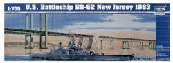 SHIP -  U.S. BATTLESHIP BB-62 NEW JERSEY 1983 1/700 (CHALLENGING)