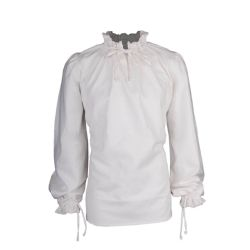SHIRTS -  BASTIAN SHIRT LINEN - WHITE