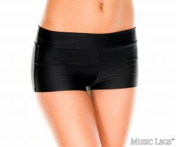 SHORT -  STRETCH BOOTY SHORT - BLACK - ONE SIZE