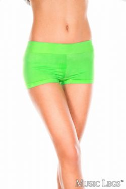 SHORT -  STRETCH BOOTY SHORT - NEON GREEN - ONE SIZE