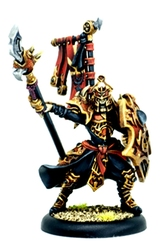 SKORNE -  PRAETORIAN KARAX OFFICER & STANDARD - COMMAND ATTACHMENT -  HORDES