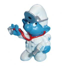 SMURFS -  DOCTOR SMURF - LARGE BLUE LINE - SLIGHT WEAR -  1978 SMURFS 20037