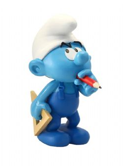 SMURFS -  HANDY SMURF RESIN FIGURE (4 1/2