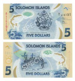 SOLOMON ISLANDS -  5 DOLLARS 2019 (UNC)