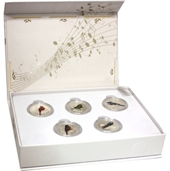 SONGBIRDS OF CANADA -  5 COINS SET -  2015 CANADIAN COINS