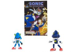 SONIC THE HEDGEHOG -  SET OF 2 ACTION FIGURES WITH COMIC BOOK (CLASSIC METAL SONIC)