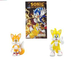 SONIC THE HEDGEHOG -  SET OF 2 ACTION FIGURES WITH COMIC BOOK (CLASSIC TAILS)