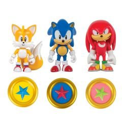 SONIC THE HEDGEHOG -  SET OF 3 ACTION FIGURES (CLASSIC SONIC, CLASSIC KNUCKLES, CLASSIC TAILS)