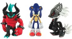 SONIC THE HEDGEHOG -  SET OF 3 ACTION FIGURES (INFINTE, SONIC, ZAVOK)