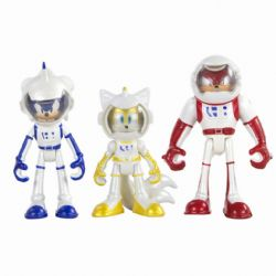 SONIC THE HEDGEHOG -  SET OF 3 ACTION FIGURES WITH DIORAMA- SONIC BOOM (SONIC, KNUCKLES, TAILS)