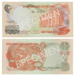 SOUTH VIETNAM -  500 DONG 1970 (UNC)