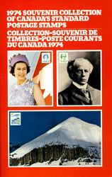 SOUVENIR ALBUM -  THE COLLECTION OF CANADA'S STAMPS 1974 - SMALL SIZE