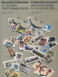 SOUVENIR ALBUM -  THE COLLECTION OF CANADA'S STAMPS 1986 - HARD COVER