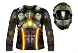 SPACE TRAVELLER -  STRETCH SHIRT AND HOOD ADULT SET