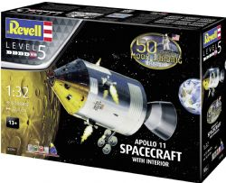 SPACESHIP -  APOLLO 11 SPACECRAFT WITH INTERIOR 1/32 (SKILL LEVEL 5 - CHALLENGING)
