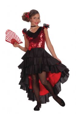 SPAIN -  SPANISH DANCER COSTUME (TEEN - LARGE 12-14)