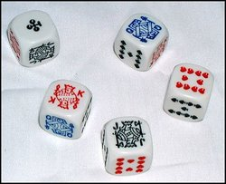 SPECIAL DICE -  6-SIDED STAND POKER DICE